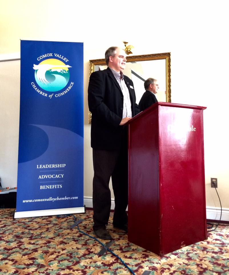 Kevin East - Comox Valley Chamber of Commerce Board Chair 2016/2017