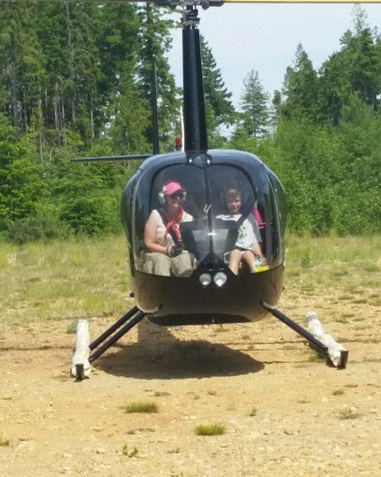 Ambassador's Helicopter Ride Over Comox Lake
